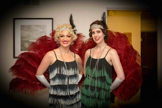 1920s themed weddings would not be complete without the Jazz Spivs Flapper Girls!