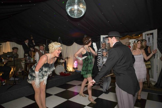 Silk Street Flappers dance with Charlie Chaplin at 1920s themed birthday party