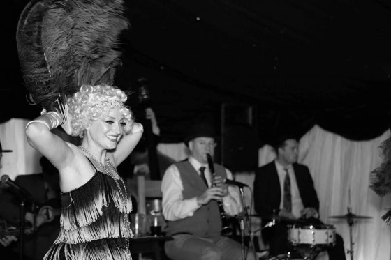 A 1920s themed birthday party with the Jazz Spivs and Silk Street Flappers