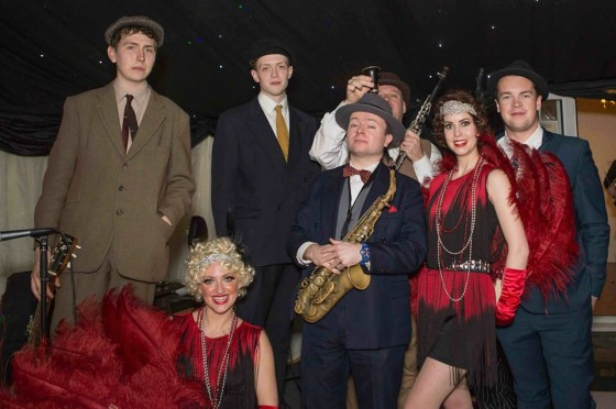 Jazz Spivs and Silk Street Flappers at 1920s themed birthday party
